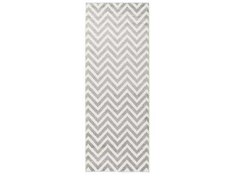 Surya Horizon 2'7'' x 7'3'' Rectangular Cream & Medium Gray Runner Rug