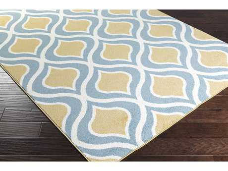 Surya Horizon Rectangular Mustard, Denim & Cream Area Rug