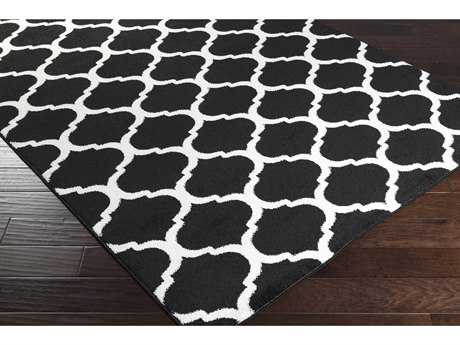 Surya Horizon Rectangular Black & Cream Area Rug