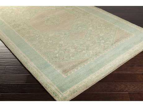 Surya Haven Rectangular Camel, Mint & Beige Area Rug