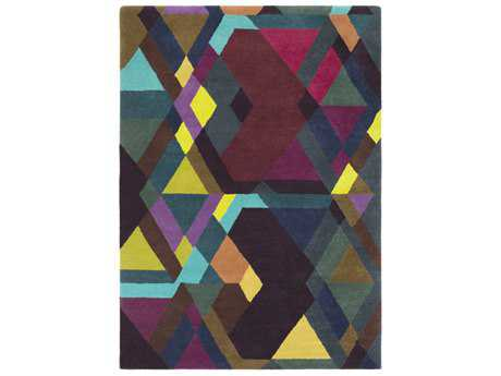 Surya Iconic Rectangular Eggplant, Burgundy & Dark Brown Area Rug