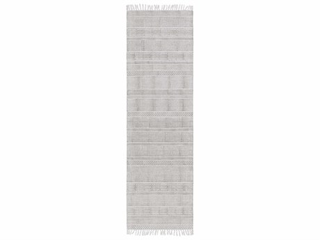 Surya Idina 2'6'' x 8' Rectangular Gray Runner Rug SYIDI8801RUN