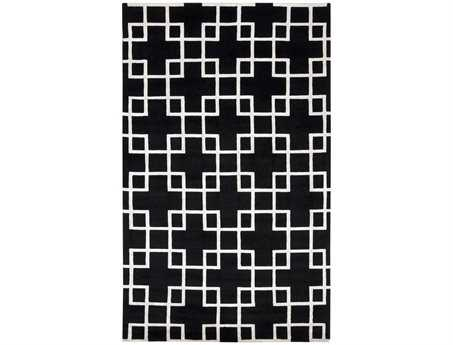 Surya Mugal Rectangular Black Area Rug