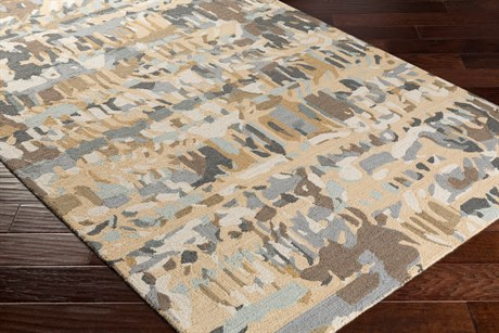 Surya Inman Rectangular Tan, Charcoal & Cream Area Rug