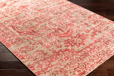Surya Irina Rectangular Taupe & Rose Area Rug