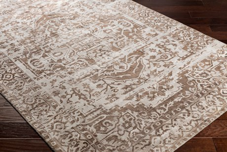 Surya Irina Rectangular Dark Brown & Khaki Area Rug