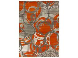 Surya Jax Rectangular Burnt Orange Area Rug