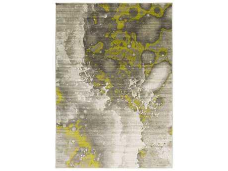 Surya Jax Rectangular Light Gray & Olive Area Rug