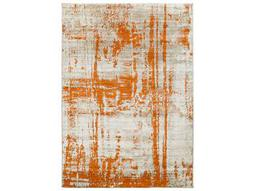 Surya Jax Rectangular Light Gray Burnt Orange Area Rug