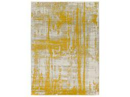 Surya Jax Rectangular Light Gray & Gold Area Rug