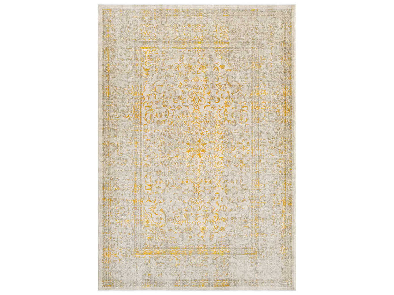 Surya Jax Mustard Dark Brown Taupe Light Gray Rectangular Area Rug