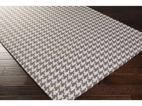 Surya Jigsaw Rectangular Charcoal & Light Gray Area Rug