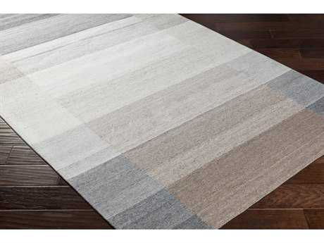 Surya Josef Rectangular Charcoal, Medium Gray & Dark Brown Area Rug