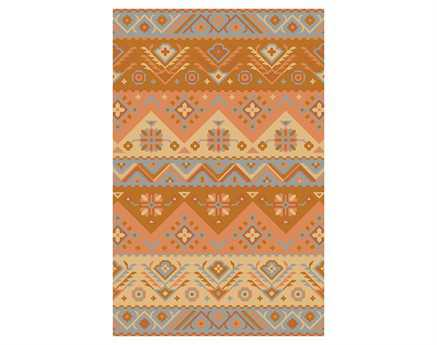 Surya Jewel Tone Rectangular Orange Area Rug