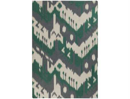 Surya Jewel Tone Rectangular Green Area Rug