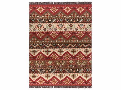 Surya Jewel Tone Rectangular Red Area Rug SYJT8REC