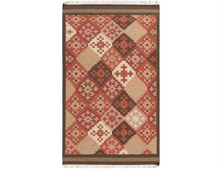 Surya Jewel Tone II Rectangular Red Area Rug