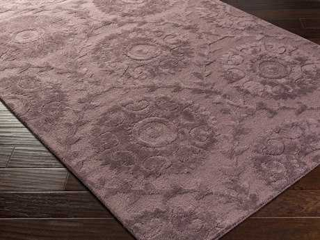 Surya Juliette Rectangular Mauve Area Rug