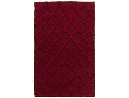 Surya Kabru Rectangular Red Area Rug
