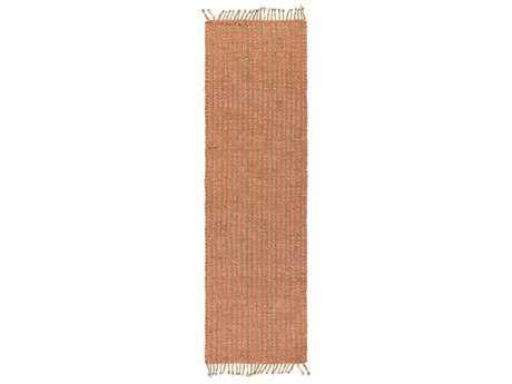 Surya Kailani 2'6'' x 8' Rectangular Coral & Khaki Runner Rug