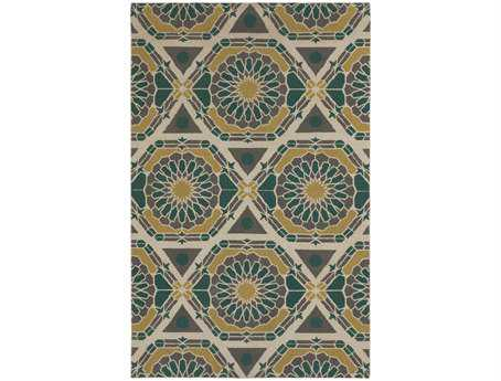 Surya Kaleidoscope Rectangular Green Area Rug