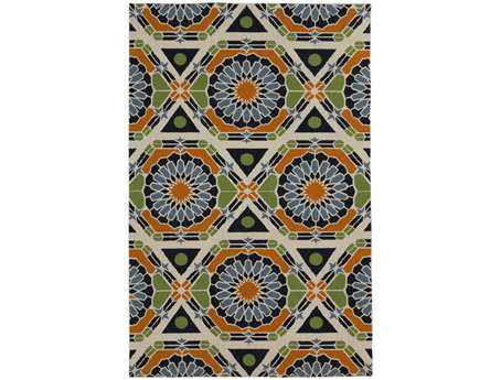 Surya Kaleidoscope Rectangular Blue Area Rug