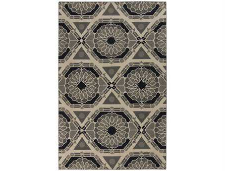 Surya Kaleidoscope Rectangular Gray Area Rug