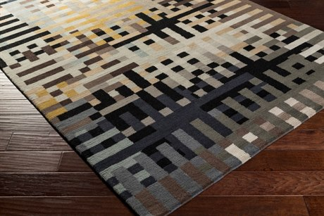 Surya Kodari Rectangular Camel, Dark Brown & Taupe Area Rug