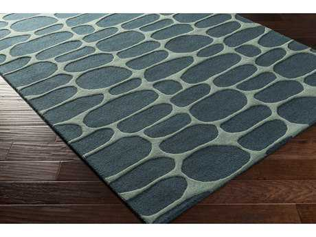 Surya Kennedy Rectangular Teal & Sea Foam Area Rug