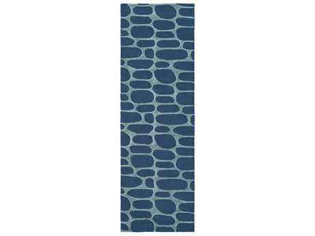 Surya Kennedy 2'6'' x 8' Rectangular Teal & Sea Foam Runner Rug