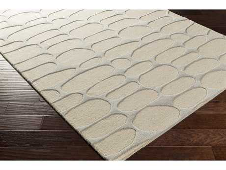 Surya Kennedy Rectangular Beige & Medium Gray Area Rug