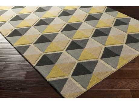 Surya Kennedy Rectangular Taupe, Camel & Bright Yellow Area Rug