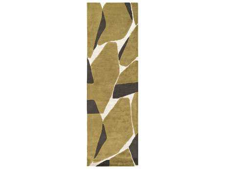 Surya Kennedy 2'6'' x 8' Rectangular Olive, Khaki & Dark Brown Runner Rug