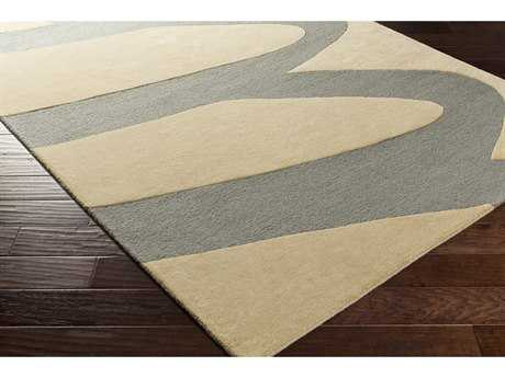 Surya Kennedy Rectangular Khaki & Denim Area Rug