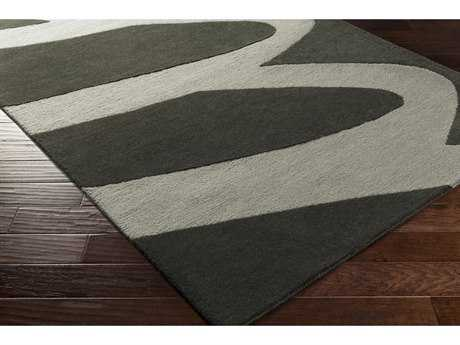 Surya Kennedy Rectangular Black & Medium Gray Area Rug
