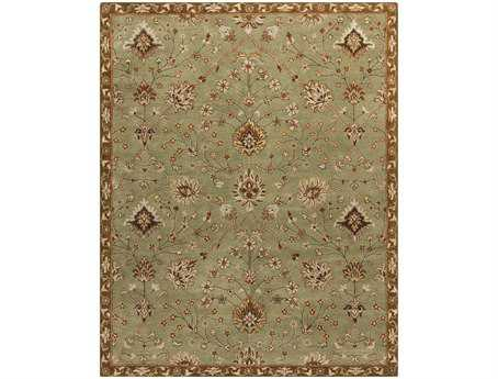 Surya Kensington Rectangular Green Area Rug