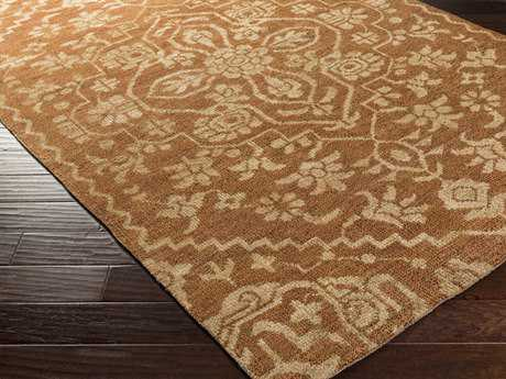Surya Kinnara Rectangular Rust Area Rug