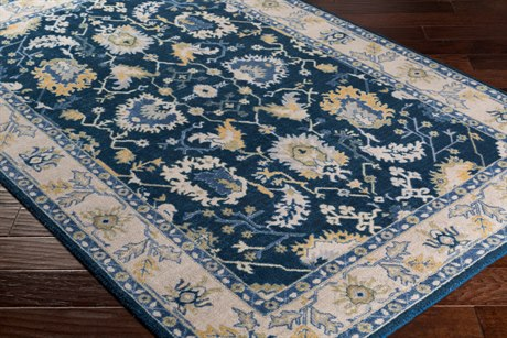 Surya Kansai Rectangular Navy, Light Gray & Denim Area Rug