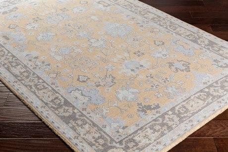 Surya Kansai Rectangular Khaki, Taupe & Medium Gray Area Rug