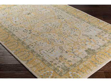 Surya Kansai Rectangular Light Gray, Saffron & Lime Area Rug