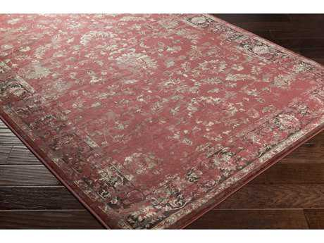 Surya Kaitlyn Rectangular Rust, Dark Brown & Medium Gray Area Rug