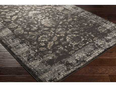 Surya Kaitlyn Rectangular Dark Brown, Wheat & Light Gray Area Rug