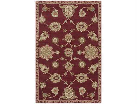 Surya Langley Rectangular Red Area Rug