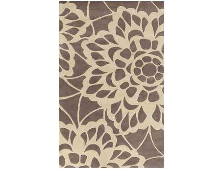 Surya Lace Rectangular Gray Area Rug