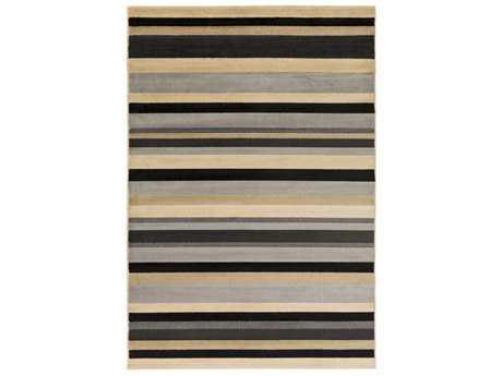 Surya Lenoir Rectangular Medium Gray, Black & Beige Area Rug