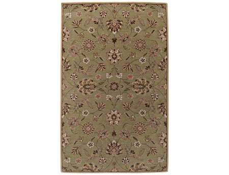 Surya Legion Rectangular Green Area Rug