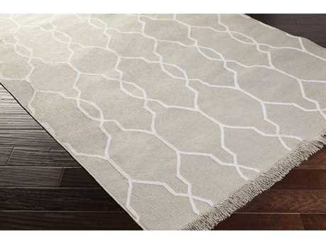 Surya Lagoon Rectangular Medium Gray & Cream Area Rug