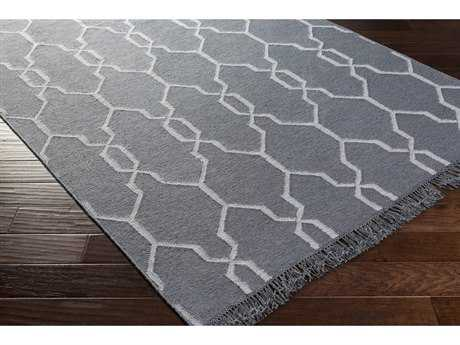 Surya Lagoon Rectangular Denim & White Area Rug