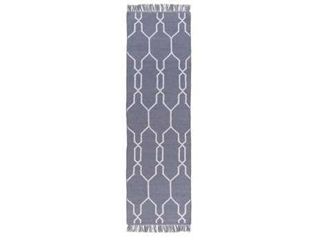 Surya Lagoon 2'6'' x 8' Rectangular Denim & White Runner Rug