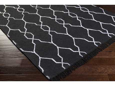 Surya Lagoon Rectangular Black & White Area Rug